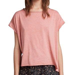 All Saints | Pina Devo T-shirt Hi-Lo Pink